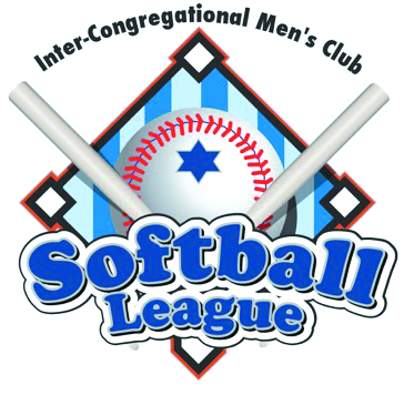 Inter-Congregational Men's Club summer Softball League logo with a softball and two bats.