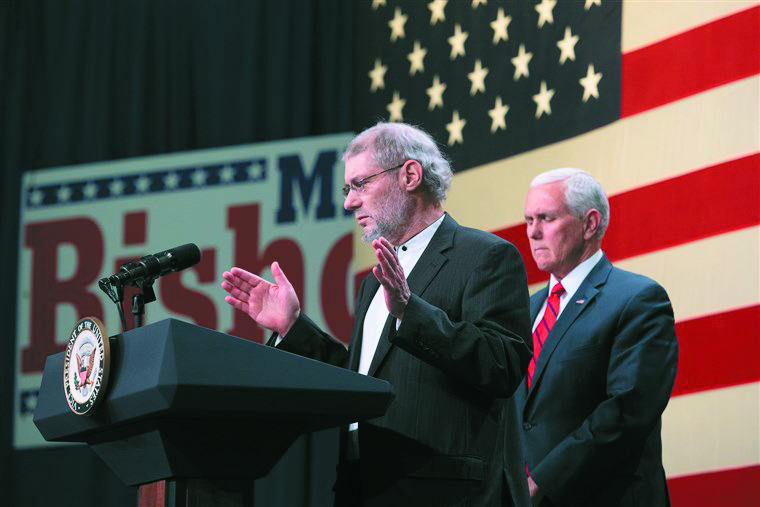 Loren Jacobs speaking at a rally