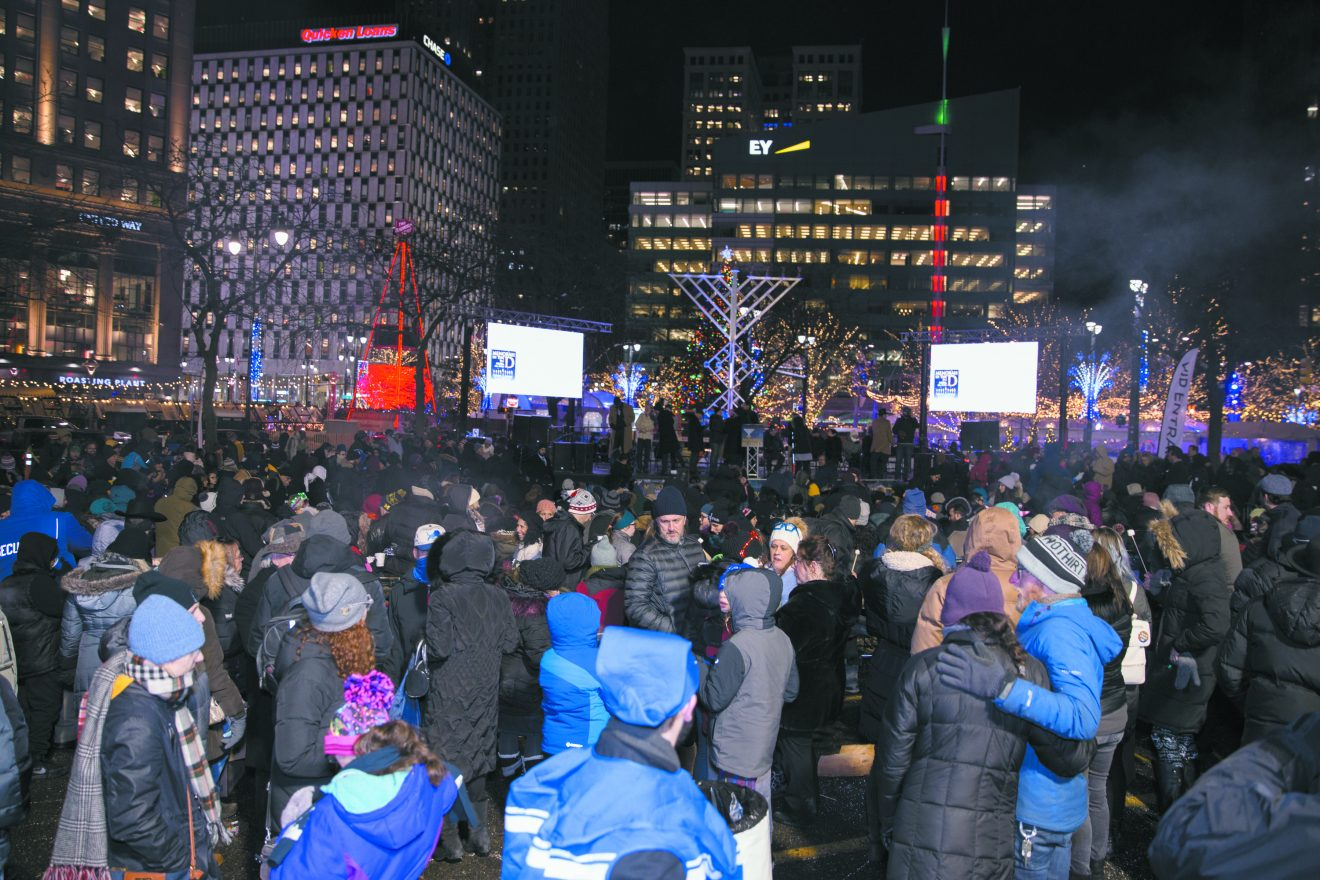 Last year's Menorah in the D celebration at Campus Martius Park