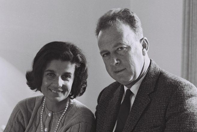 Leah and Yitzhak Rabin serve Israel in Washington in 1968 during his time as ambassador to the United States.
