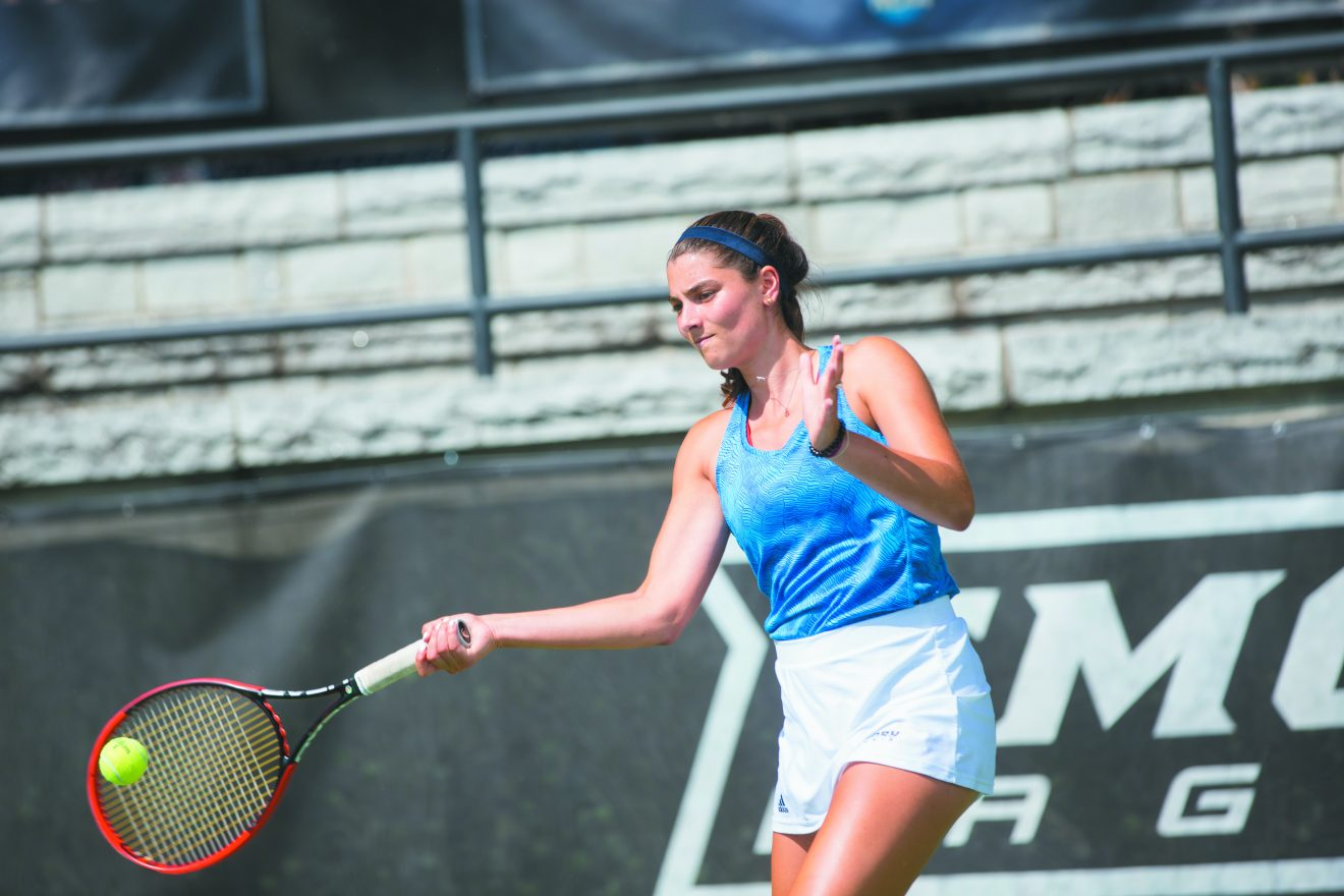 Sasha Hartje is focused on tennis at Emory University.