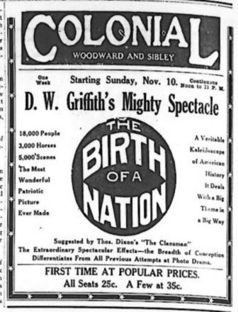 birth of a nation article from the Detroit Jewish News or Detroit Jewish Chronicle