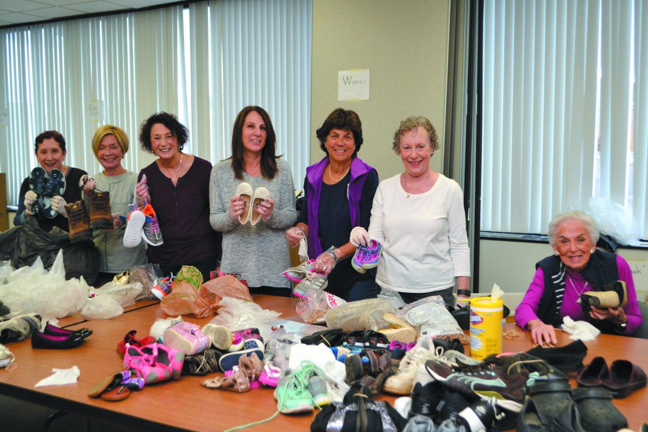 Women at the Shoes to Share drive