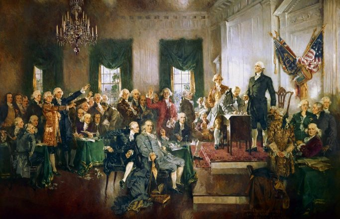 the singing of the constitution painting