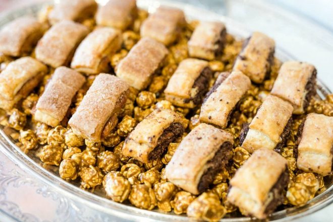 Zingerman's rugelach from Plum is mixed with Mitch Album's made-in-Detroit Brown Bag Popcorn.
