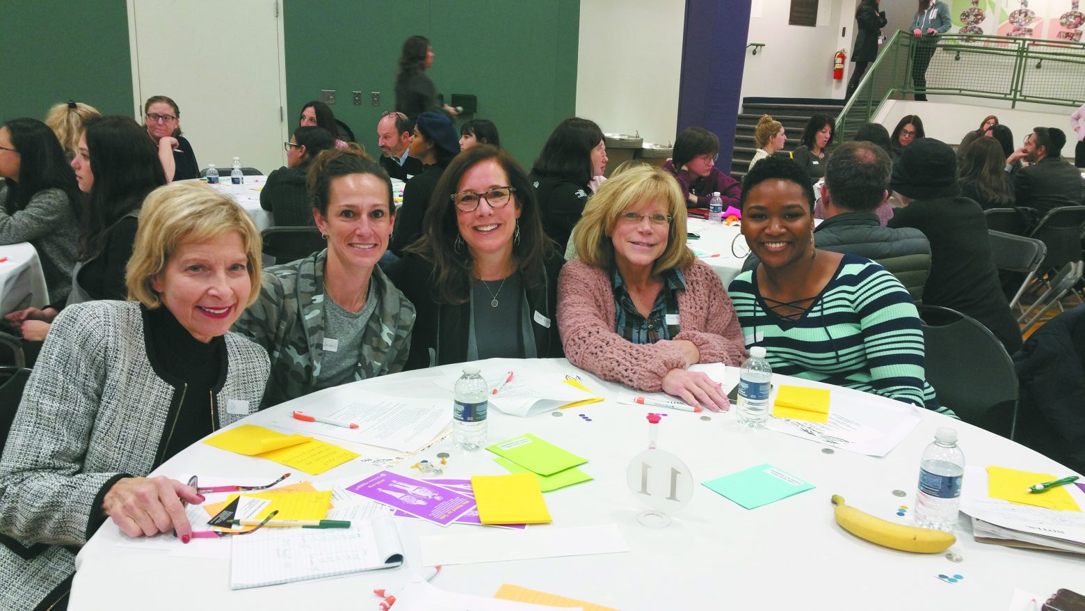 Brainstorming solutions: Deanne Ginns Gruenberg, owner of the Self Esteem Shop in Clawson and child and adolescent therapist; Jodie Jacobs, table leader; Sara Kraft, social worker in private practice; Orly Kennet, Bloomfield Hills parent; Onisia Martin, school social worker.