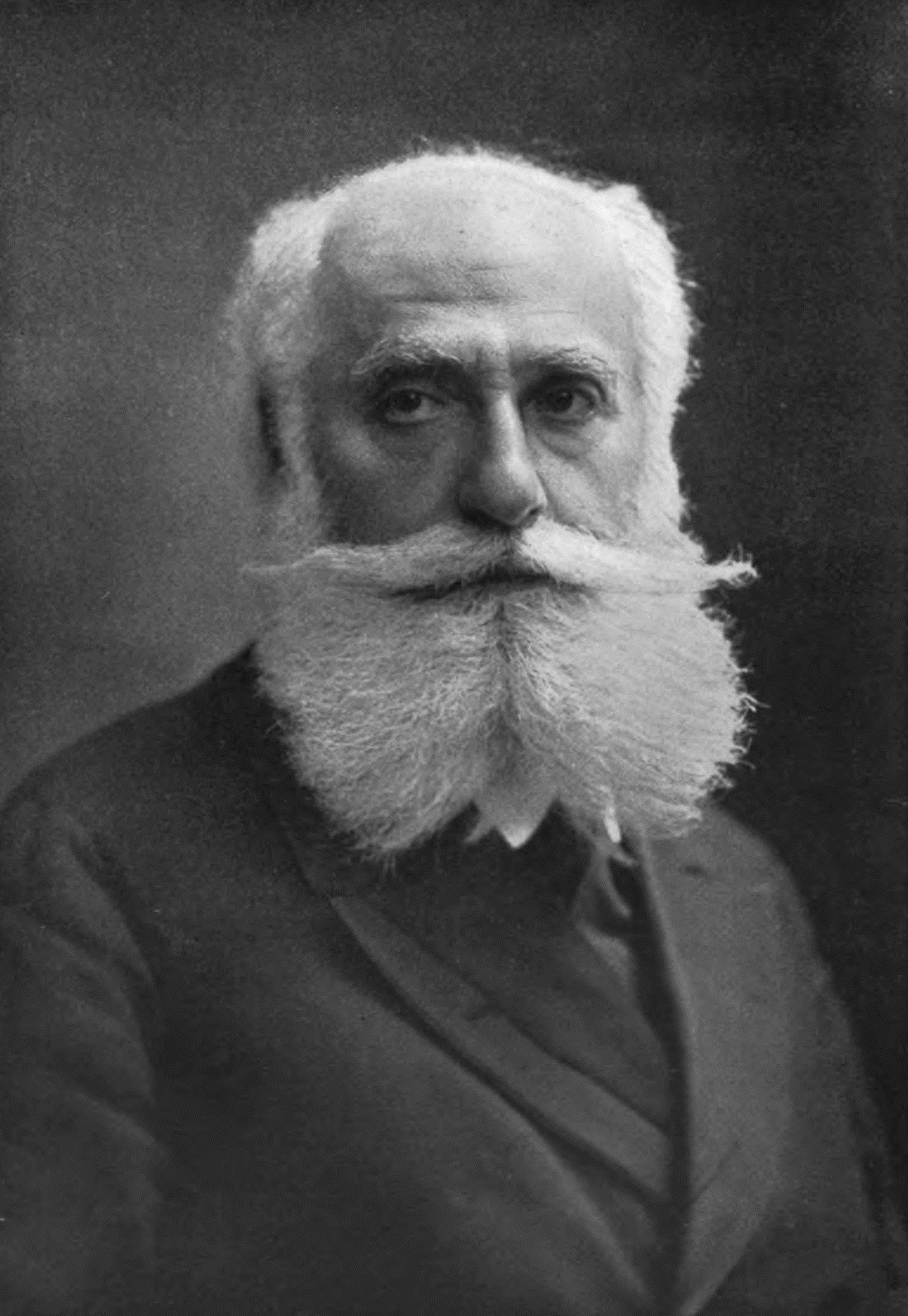 Max Nordau - man with big beard and handlebar mustache wearing a suite and tie