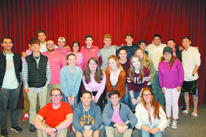 GVSU students participate in a Pink Shabbat, with proceeds going to Sharsheret, an organization that supports Jewish women with breast cancer and their families.