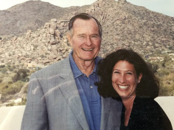 The late President George H.W. Bush with Sheri Wagner Greenbaum in 2002.