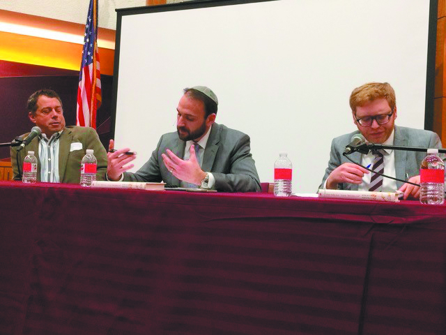 Howard Lupovitch, Adam Weiner and Jonathan Neumann on a panel