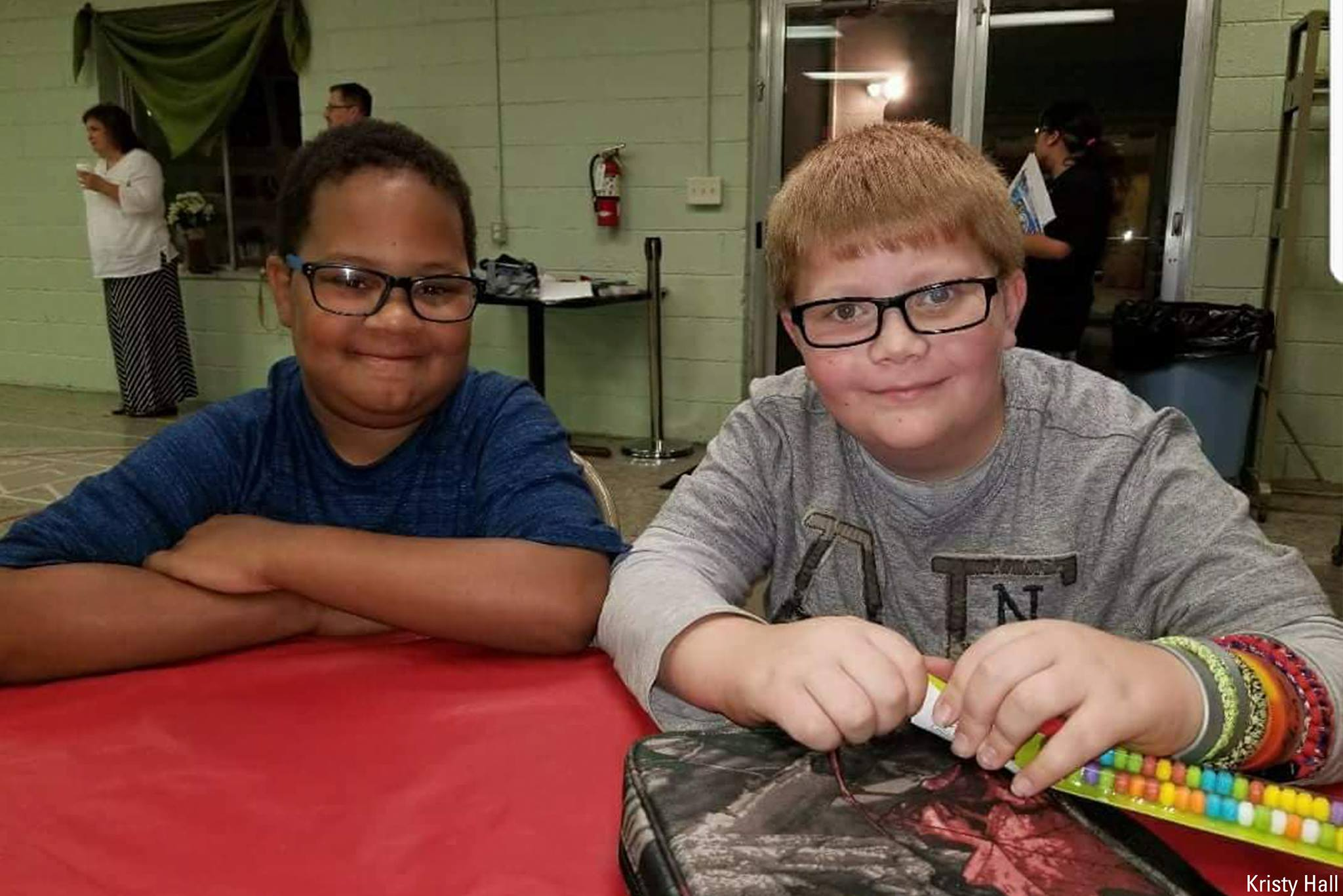 KJ Gross and Kaleb Klakulak became best friends in second grade. Kristy Ha;;/Facebook