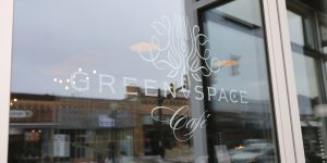 GreenSpace Cafe window