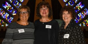 Co-chair Sandy Gruca of West Bloomfield, President Carol Ogusky of Sylvan Lake and co-chair Rochelle Imber of West Bloomfield