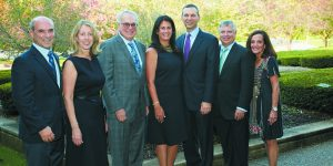Jeff and Karen Schoenberg, co-chairs; Jeffrey Supowit, Yad Ezra president; Ellen and David Sherman, honorees; Larry Tisdale, co-chair; and Lea Luger, executive director
