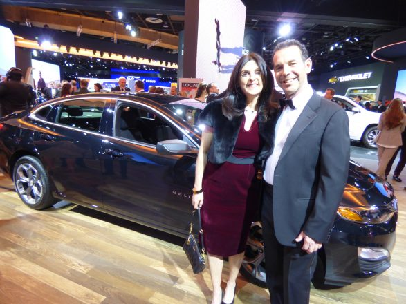 Sherri and Jim Ketai of Franklin check out the Chevrolet exhibit.
