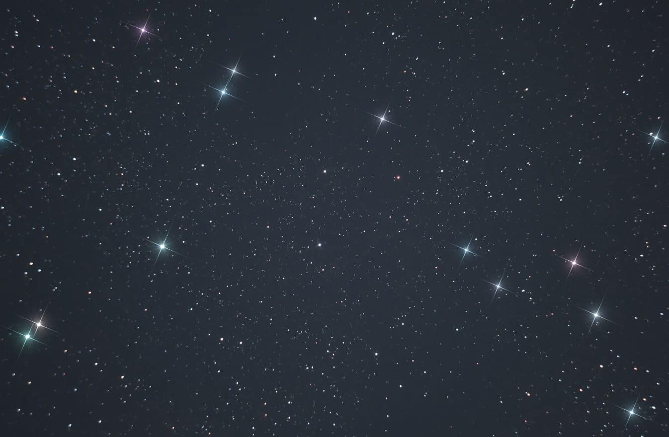 eal photo of the starry sky made through a telescope. Bright colorful stars in the infinite space of our universe