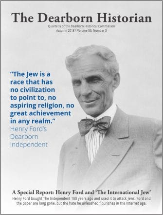 Henry Ford on the Dearborn Historian cover