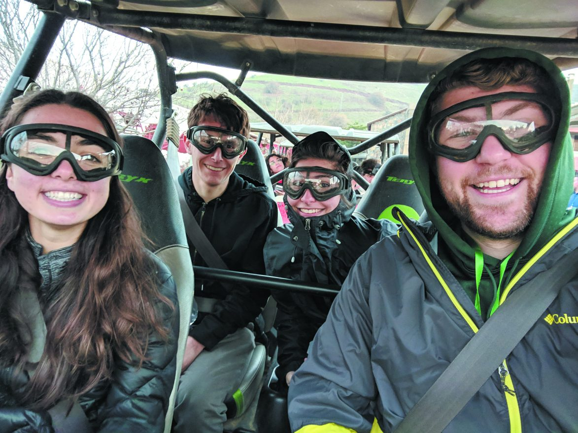 MSU student Kyle Zaback during Jeep ride in the Golan Heights during the Hasbara Israel Training Program