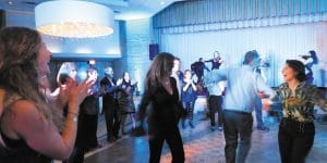 Guests danced the horah to the energizing sounds of Nuclassica.