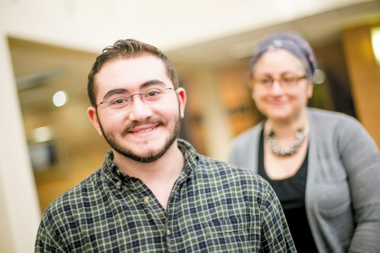 Azriel Rueven Apap knows he has the support of his family, including his mother, Deb Kovsky.