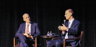 ADL CEO Jonathan Greenblatt and ADL Senior Vice President George Selim answer questions from the audience.