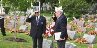 Dr. Barry Schneider of the Jewish War Veterans