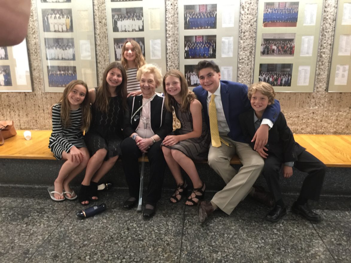 Mary Blitz and grandchildren