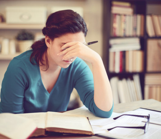 Female student stress and anxiety