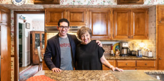 Bubbie's Kitchen host Joshua Goldberg with Bubbie Valerie