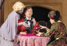 Leslie Ann Handleman and her costars in Blithe Spirit.
