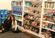 Lacey and Samantha Foon collect donations for I Support the Girls