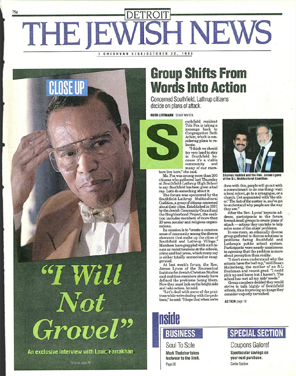 Louis Farrakhan coverage in the Jewish News
