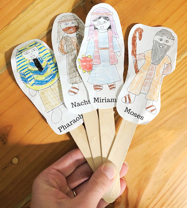Passover Story Character Puppets
