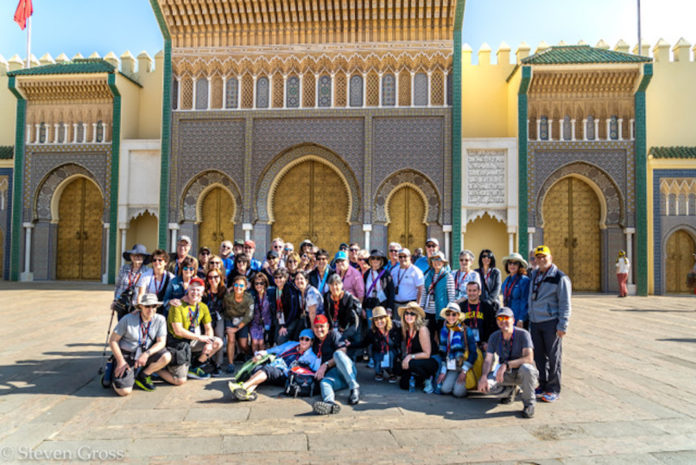The group at Fes Palace Plaz