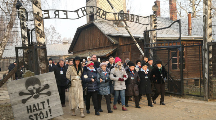 Former prisoners of the Auschwitz-Birkenau concentration