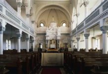 Interior of Neolog synagogue, Brasov, Transylvania