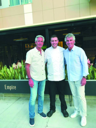 Empire Kitchen and Cocktails owners Mike Abrams and Brian Adelman with executive chef Aaron Lowen.