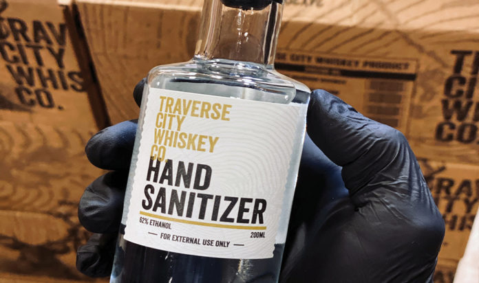 Traverse City Whiskey Hand Sanitizer