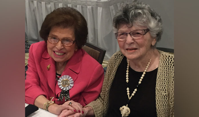 This photo is from Marcia's 99th birthday party.