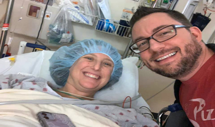 Lesley Miles and Andy Kitchen pre-op