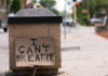 An 'I Can't Breathe' sign along 38th St in Minneapolis on Wednesday, after the death of George Floyd on Monday night in Minneapolis, Minnesota