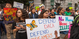 Protestors in San Francisco in 2017 defending DACA.
