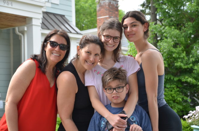 Jill, Lisa, Casie, and Jessica Menuck with 5th grade graduate, Eli