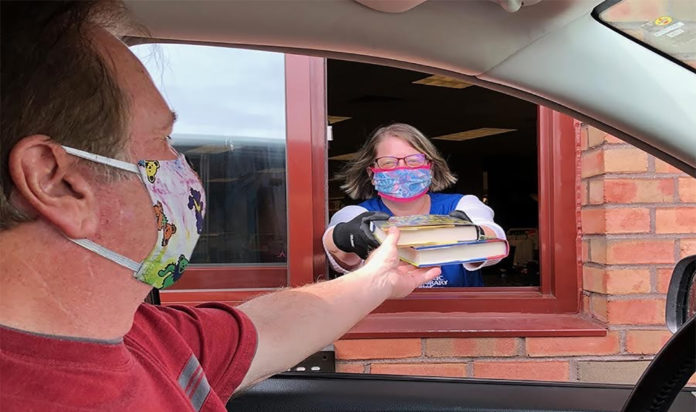 West Bloomfield Township Public Library's drive-thru exchange.