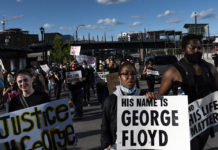 Protesters in Minneapolis, Minnesota, demonstrated against the death in police custody of George Floyd, May 29, 2020.