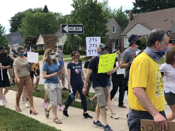 An estimated 700 people staked out their own Black Lives Matter protest in Huntington Woods, a city of around 6,000 residents, late in the afternoon on Friday, June 5.