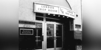 The original London Chop House in Detroit's Murphy Building on Congress.