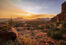 Sedona at sunset view