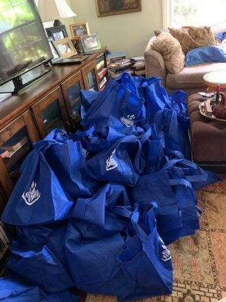 The gift bags were provided by Leo Eisenberg and his family