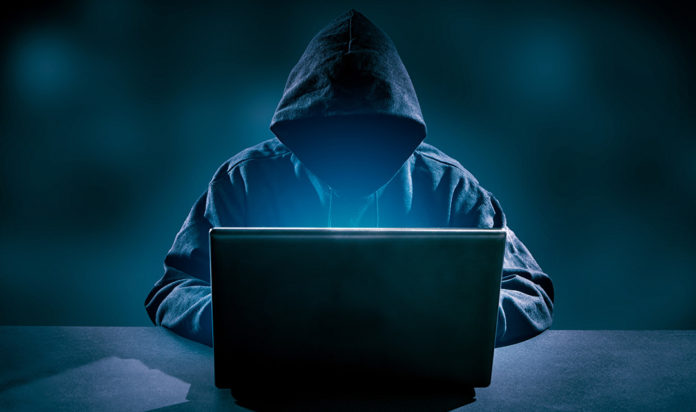 Stock image of a computer hacker